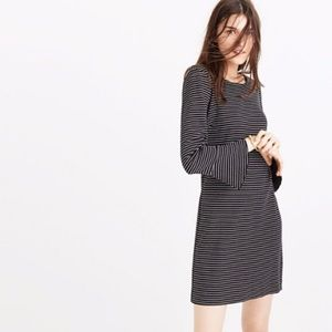 Madewell Bell Sleeve Striped Dress